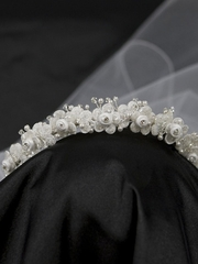 Satin Crown With Veil