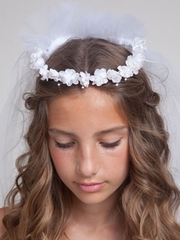 Shawn White Cute Flower communion Veil