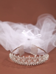 Karla Communion Veil Crown