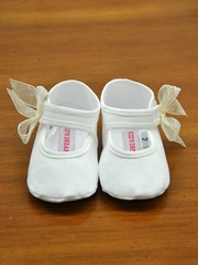 Lucille Baby Shoes with Accented Bow