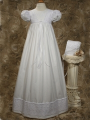 Danielle Poly Cotton Christening Dress