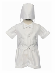 Daniel Satin Short Boy Christening Set
