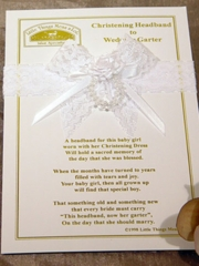 Christening Headband to Wedding Garter