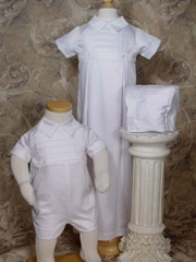 Boys 100% Cotton Convertible Christening Set