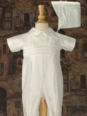 Silk Coverall Boys Christening Outfit