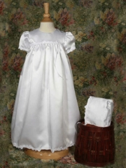 Kelsey Sweet Satin Christening Gown