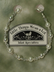 Pearl and Silver Bracelet for Christening