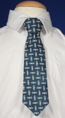 Baby Boy Blue Tie with Star Pattern