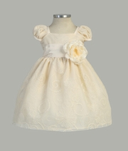 Blossom Embroidered Mesh Infant l Dress