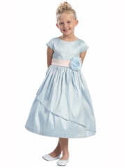 Kylee Poly Dupioni Girl Dress