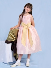 Lily Poly Dupioni Flower Girl Dress