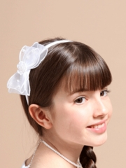 Headband with Accented Organza Bow