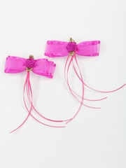 Fuchsia Rose Hairpins