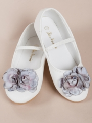 Mckenzie Pink Flowers Girl Shoes