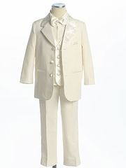 Ivory  Single Breasted Tuxedo with Vest