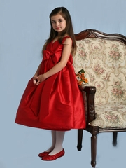 V-Neck Girl's Dress for Holiday