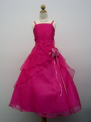Spaghetti strap organza flower girl Dress