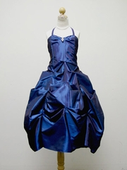 Satin Gathered Pageant Dress