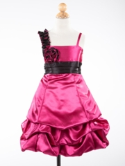 Aubrey  Rosette Accent  Graduation Dress