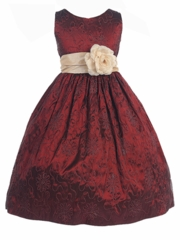 Cord Embroidered Sleeveless Taffeta Dress