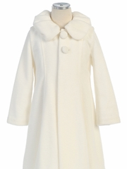 Poly Fleece Coat with Collar