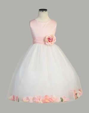Dellar Flower Petal Flower Girl Dress