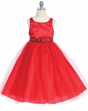 Mariah Rhinestone Beaded Flower Girl Dress