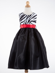 Linda Zebra Printed Girl Dress