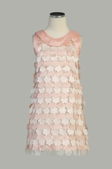 Flounce Flowers Taffeta Girl Dress