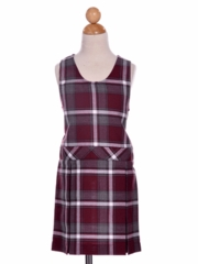Girl's Uniform Plaid Checkered Jumper