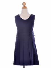 Navy Blue Girl's Uniform Jumper with Pleated  Skirt