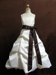 Satin Pick-up Flower Girl Dress