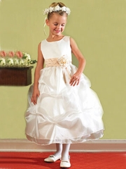 Satin bodice w/ gathered skirt