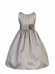 Lily Taffeta Sleeveless Flower Girl Dress