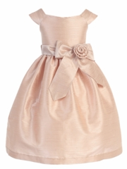 Aurora Sash Dupioni Dress