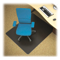 Black Carpet Chairmat 48x48 Rectangle