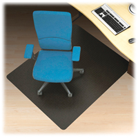 black hard floor 60x96 chairmat rectangle
