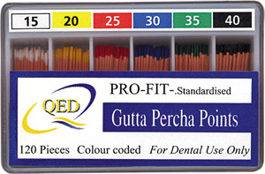 Gutta Percha Points 120/Box Color coded