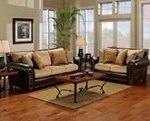 Tinga Marino Nailhead Sofa Set