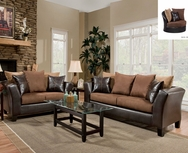Brown Bicast/Microfiber Sofa Set C-4170-SET
