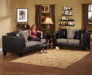 Black Bi-Cast Sofa Set    This price wont last long! P-4180B-SET