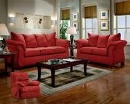 Sensations Red Brick Sofa Set C-6700-SET