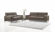 Brown Fabric 3-Pc Modern Sofa Set VGMB1081-SET