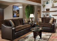 Bicast with Velvet Sofa Set C-7000-SET