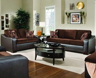 London Walnut/Chocolate Sofa Set P-8250-SET