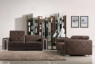 Tufted Brown 3-Pc Modern Sofa Set VGMB1086-SET