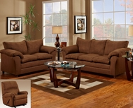 Flat Suede II Chocolate Sofa Set P-1150Choc-SET