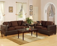 Arianna 2-Pc Two-Tone Sofa Set - 2 COLORS U-F7591-SET
