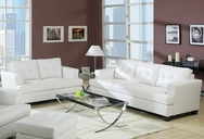 Soho White Bonded Leather Sofa Set A-15095-SET