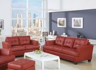 Soho Red Bonded Leather Sofa Set A-15100-SET